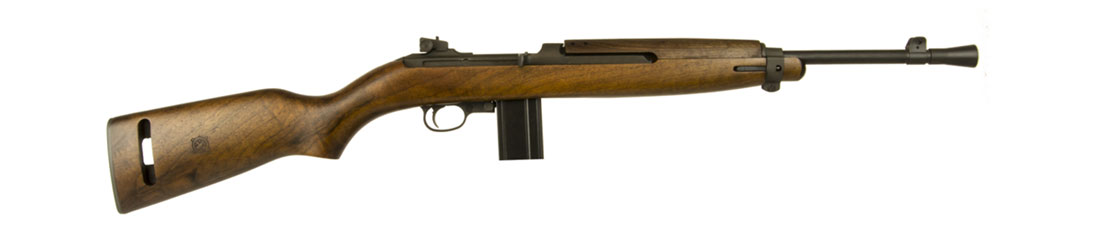 Inland M1 Jungle Carbine with a 16-inch/40.6-centimeter barrel and a flash hider