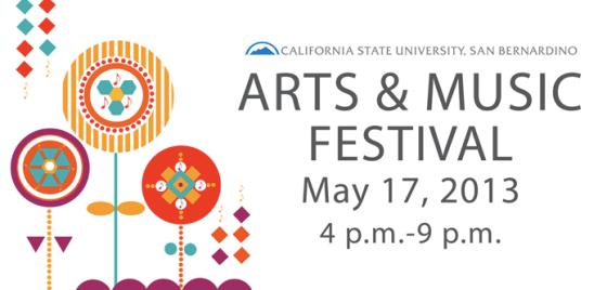 CSUSB Arts & Music Festival 2013 Logo