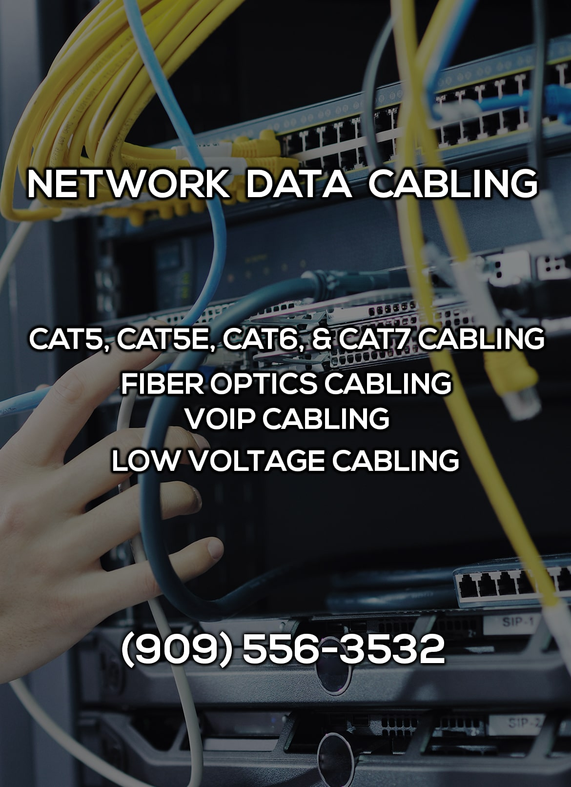hight resolution of network data cabling in adelanto ca