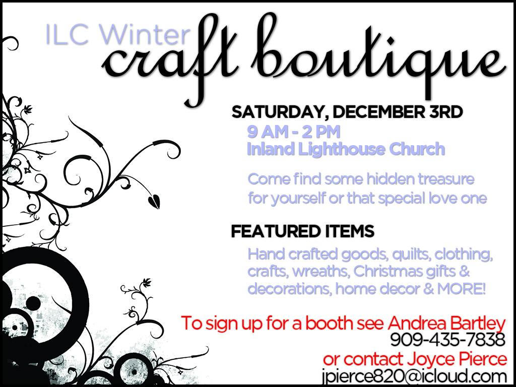 December 3 |ILC Winter Craft Boutique
