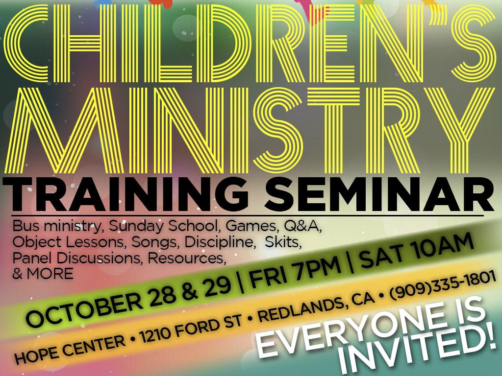 Oct 28-29 | Kidmin Training
