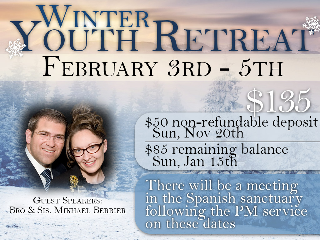 February 3 -5 | Youth Winter Retreat