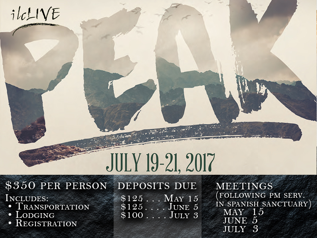 July 19-21, 2017 | PEAK Youth Trip