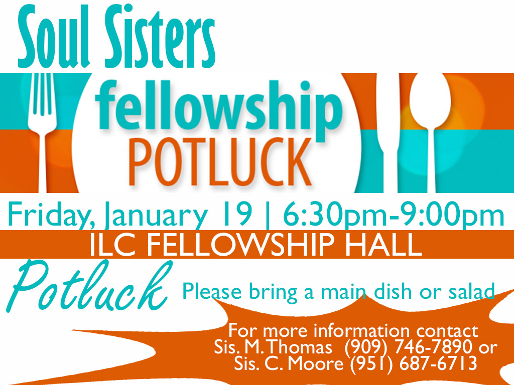 January 19 | Soul Sister's Potluck