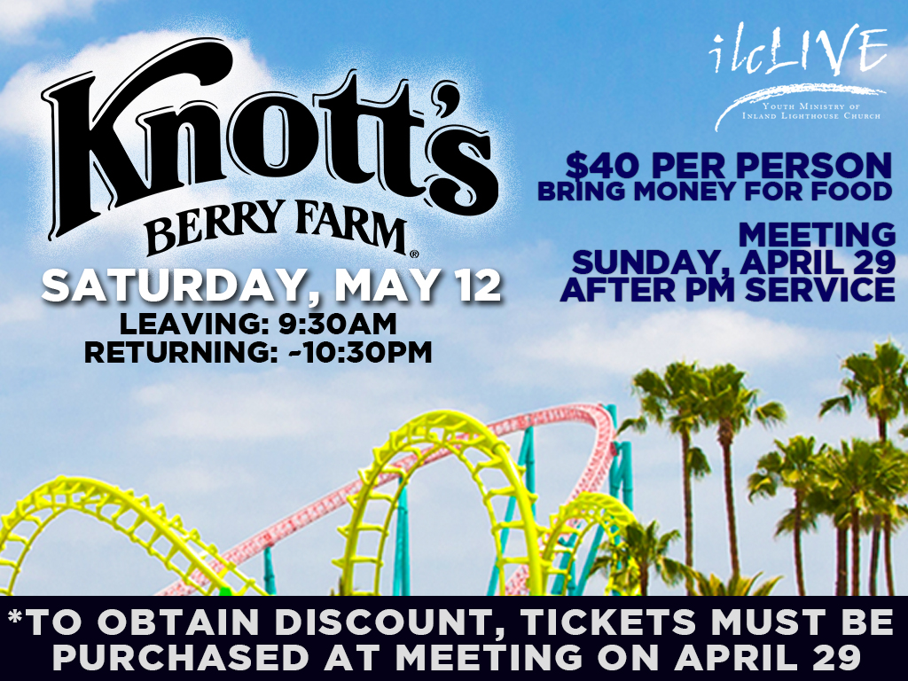 Knotts Berry Farm Youth | May 12, 2018