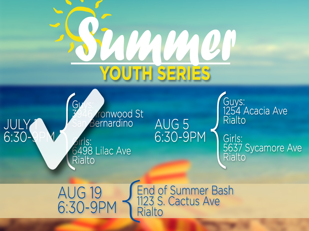 Summer Youth Series | Next is Aug 5, 2019