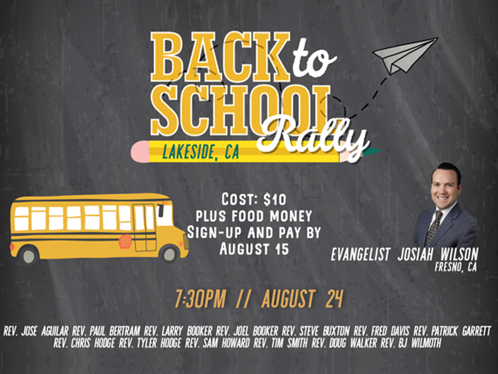 Back to School Youth Rally | 2018, August 24
