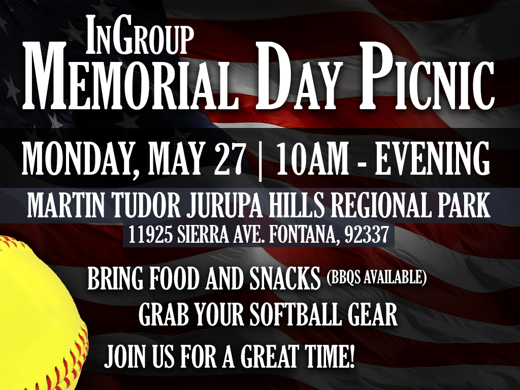 Ingroup Memorial Day Picnic | May 27, 2019