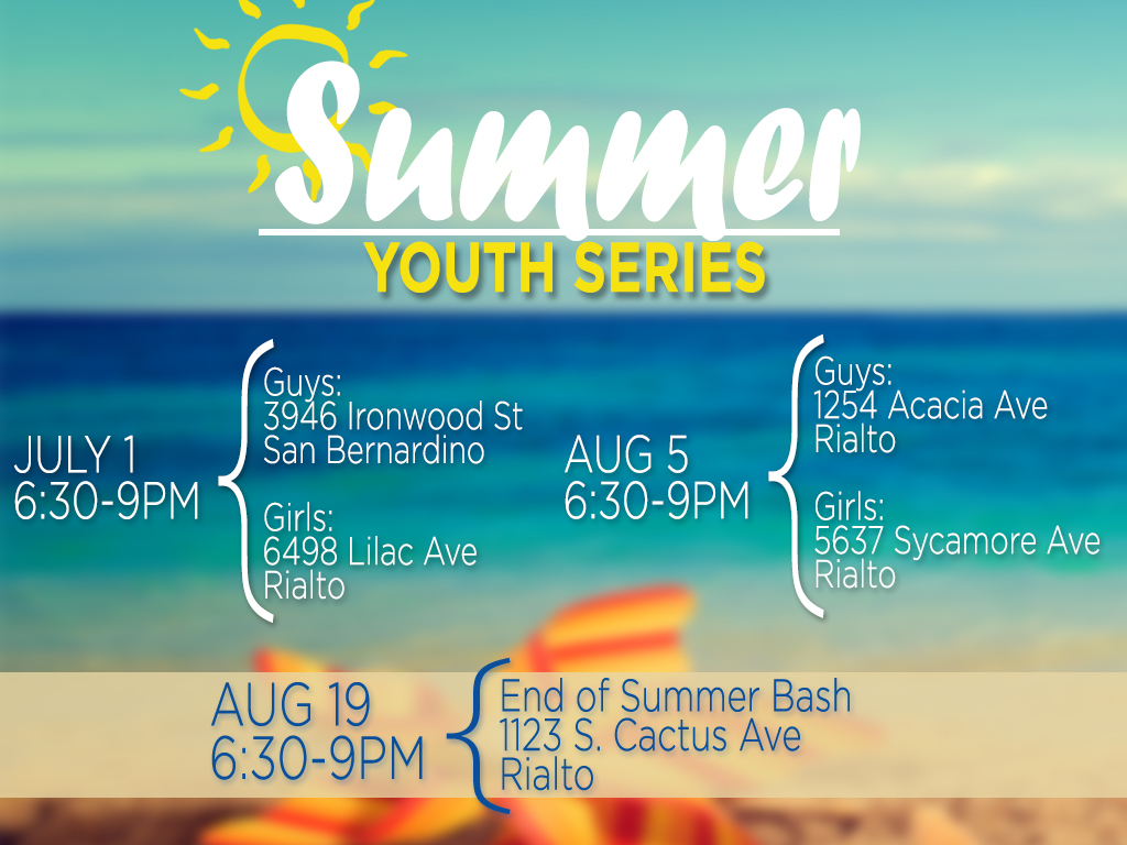Summer Youth Series | Starting July 1, 2019