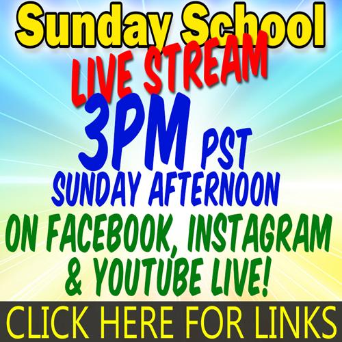 Sunday School Live | Sun 3PM