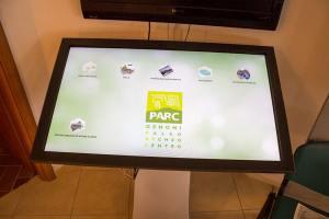 Touch screen del Museo PARC di Genoni