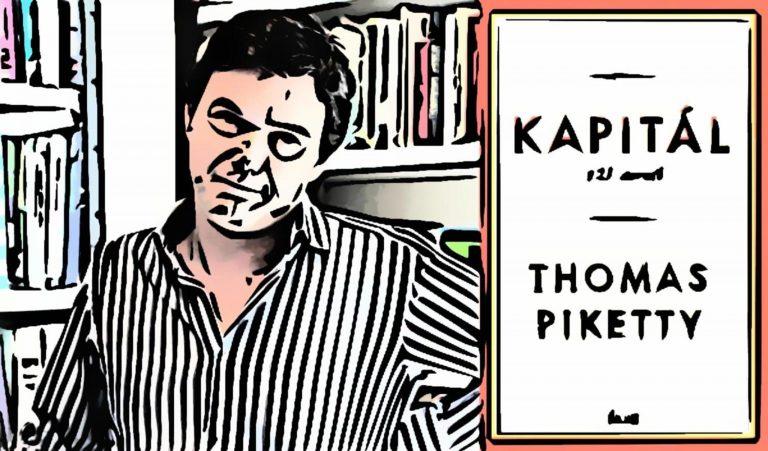 Ilustačný obrázok ku knihe Kapitál v 21. storočí od Thomasa Pikettyho