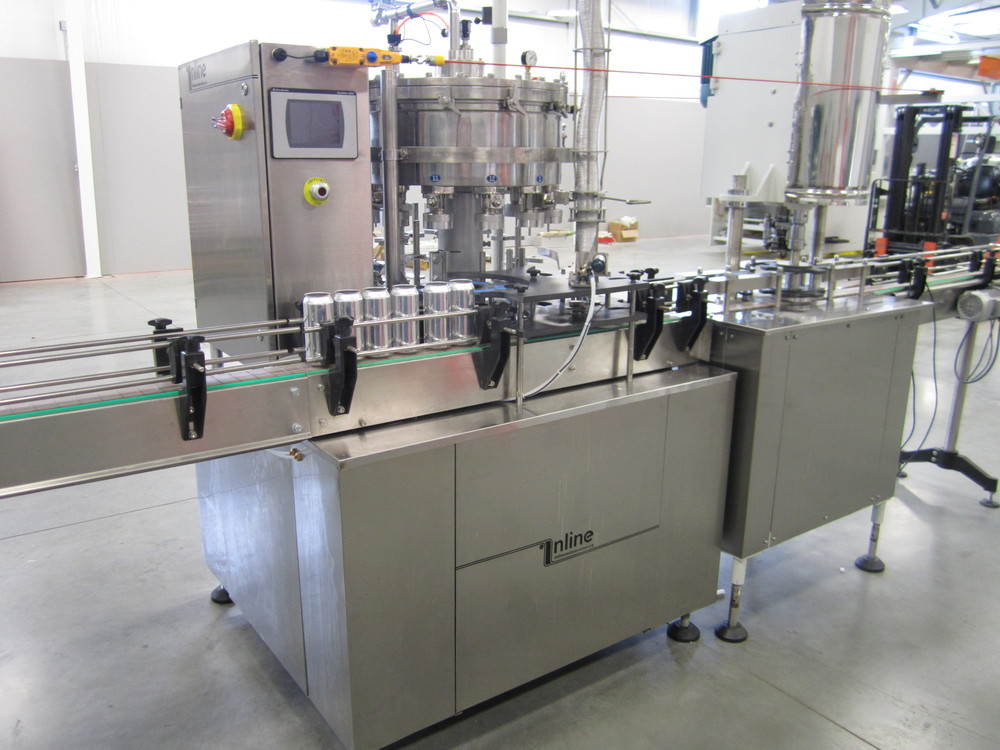Rotary Counter Pressure Filler Inline Automation Canning