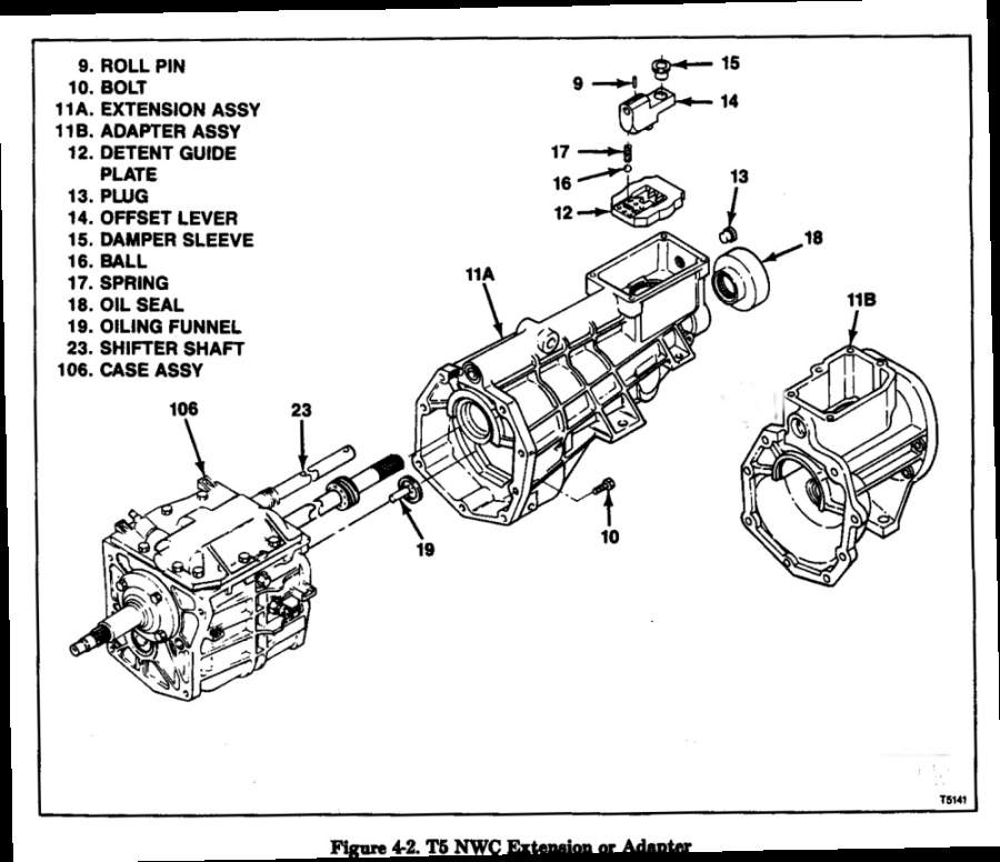 T 5 Borg Warner Transmission Repair Rebuild Manual T5