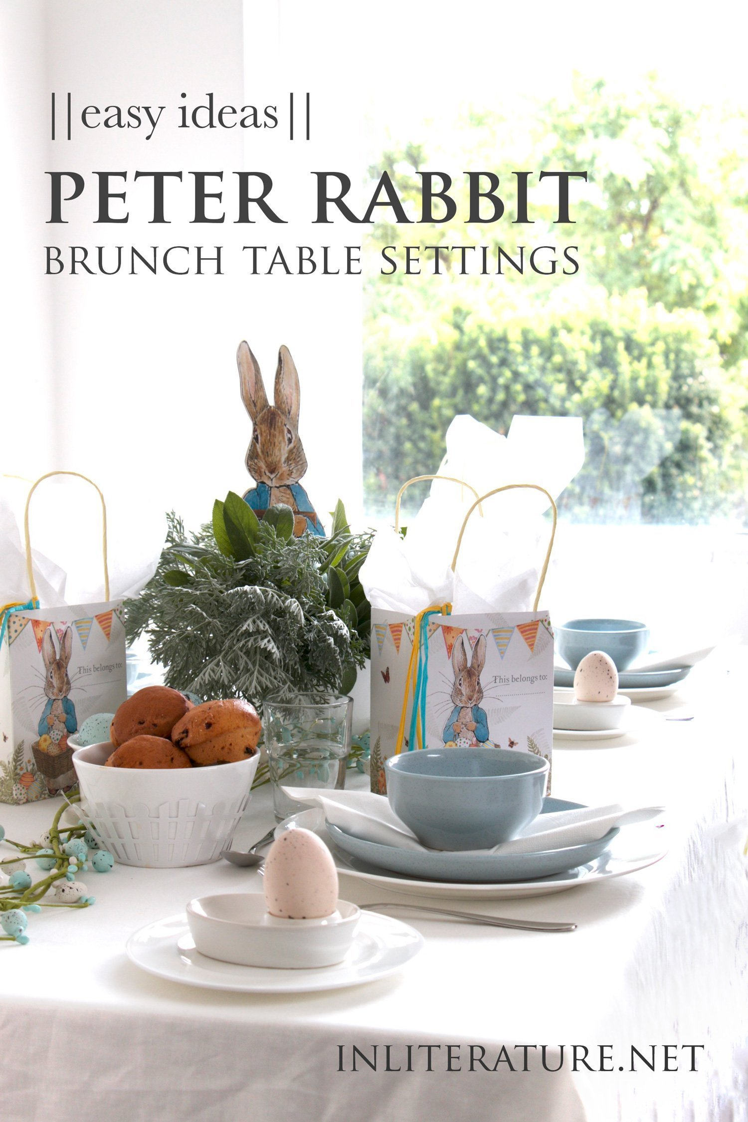 Easy Peter Rabbit Brunch Table Setting Ideas In Literature