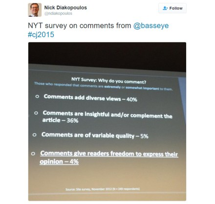Readers have spoken: They want the ability to comment on content.