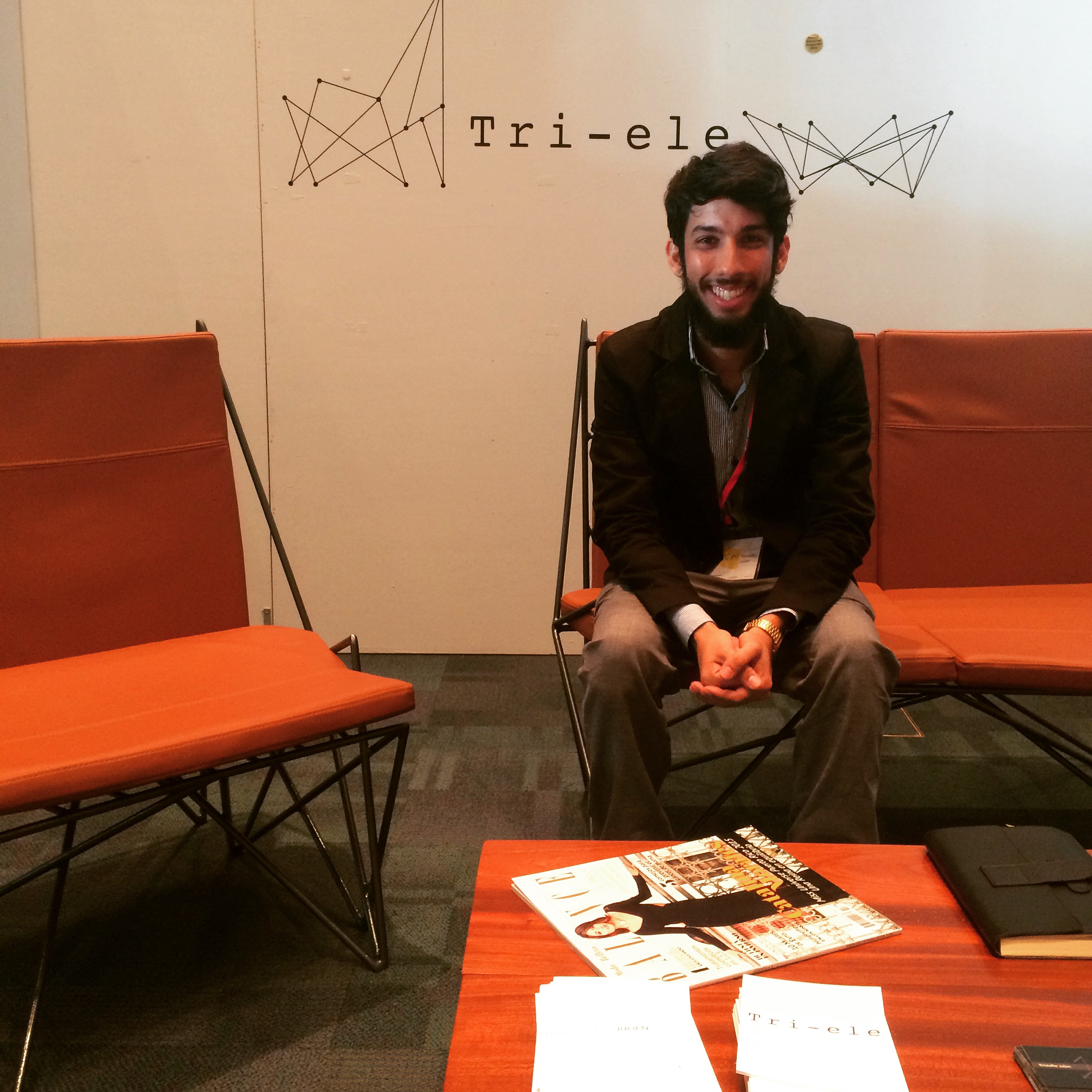 Industrial Designer Kristoffer Julien and his Tri-ele set of Iron furniture sold on first day at Boom Fair 2015