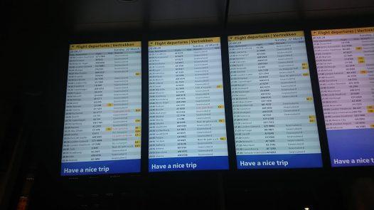 Heel veel vluchten zijn geannuleerd