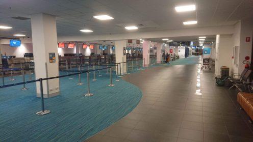 Lege luchthaven in Darwin