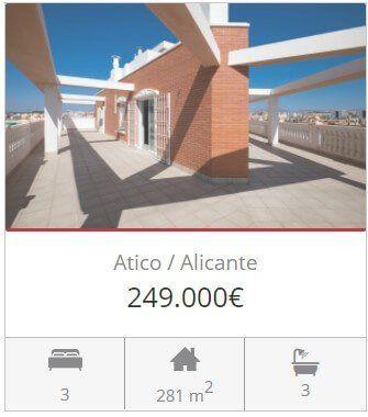 Inmobiliaria Alicante atico en venta hospital