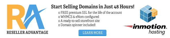 Sell domains in just 48 hours using Reseller Advantage