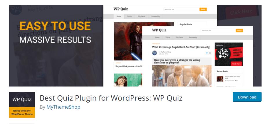 WP quiz plugin untuk wordpress