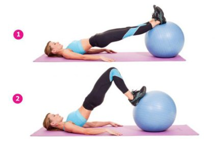 Image result for STABILITY BALL HAMSTRING CURL