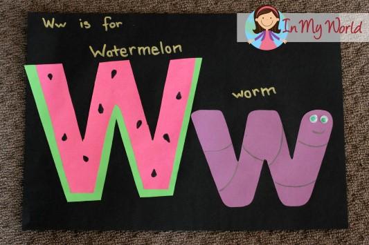 Preschool Letter W In My World