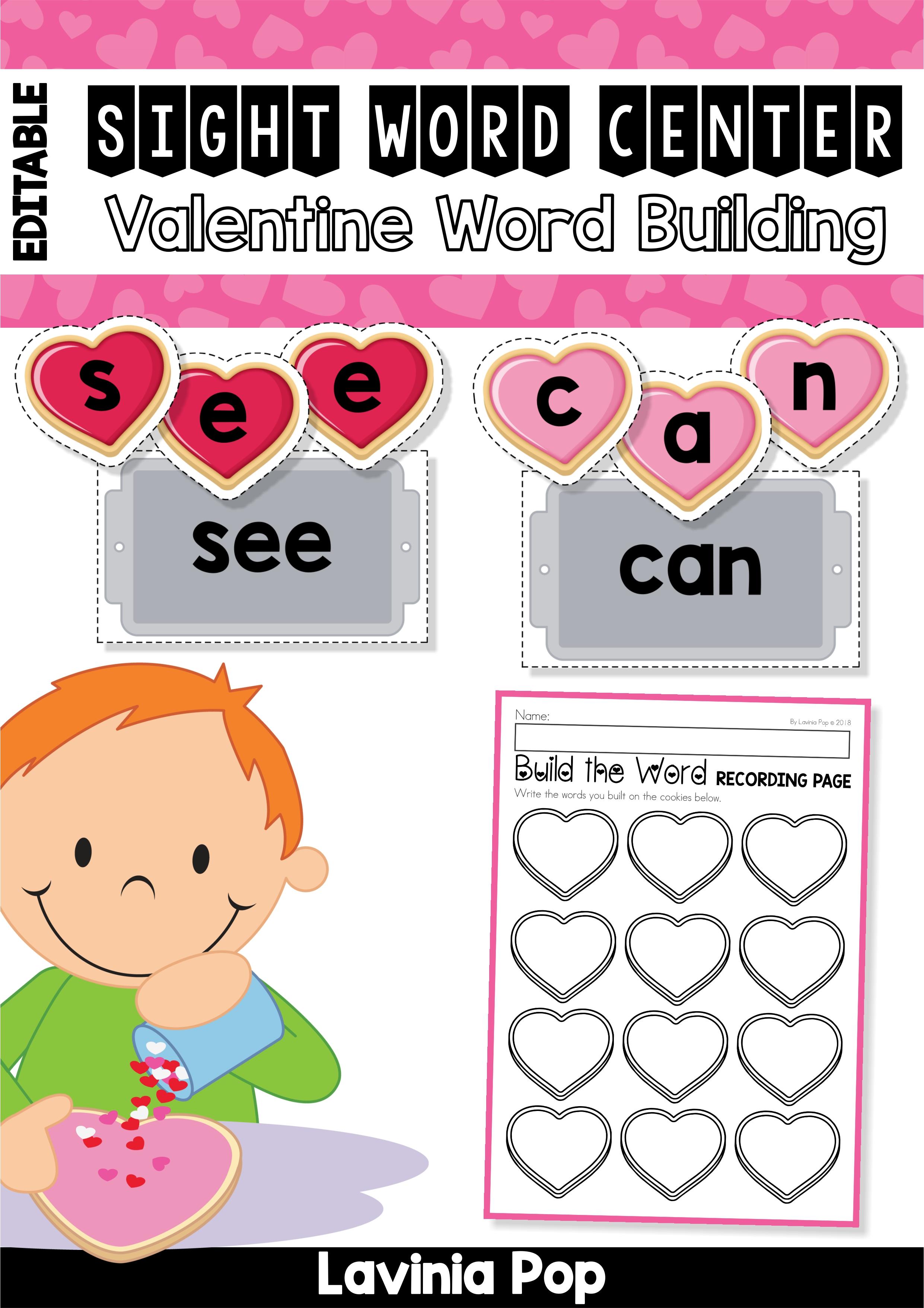 Valentine Cookies Word Building1