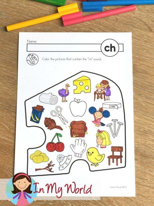 small resolution of FREE CH Digraph Printable Activities \u0026 Worksheets - In My World