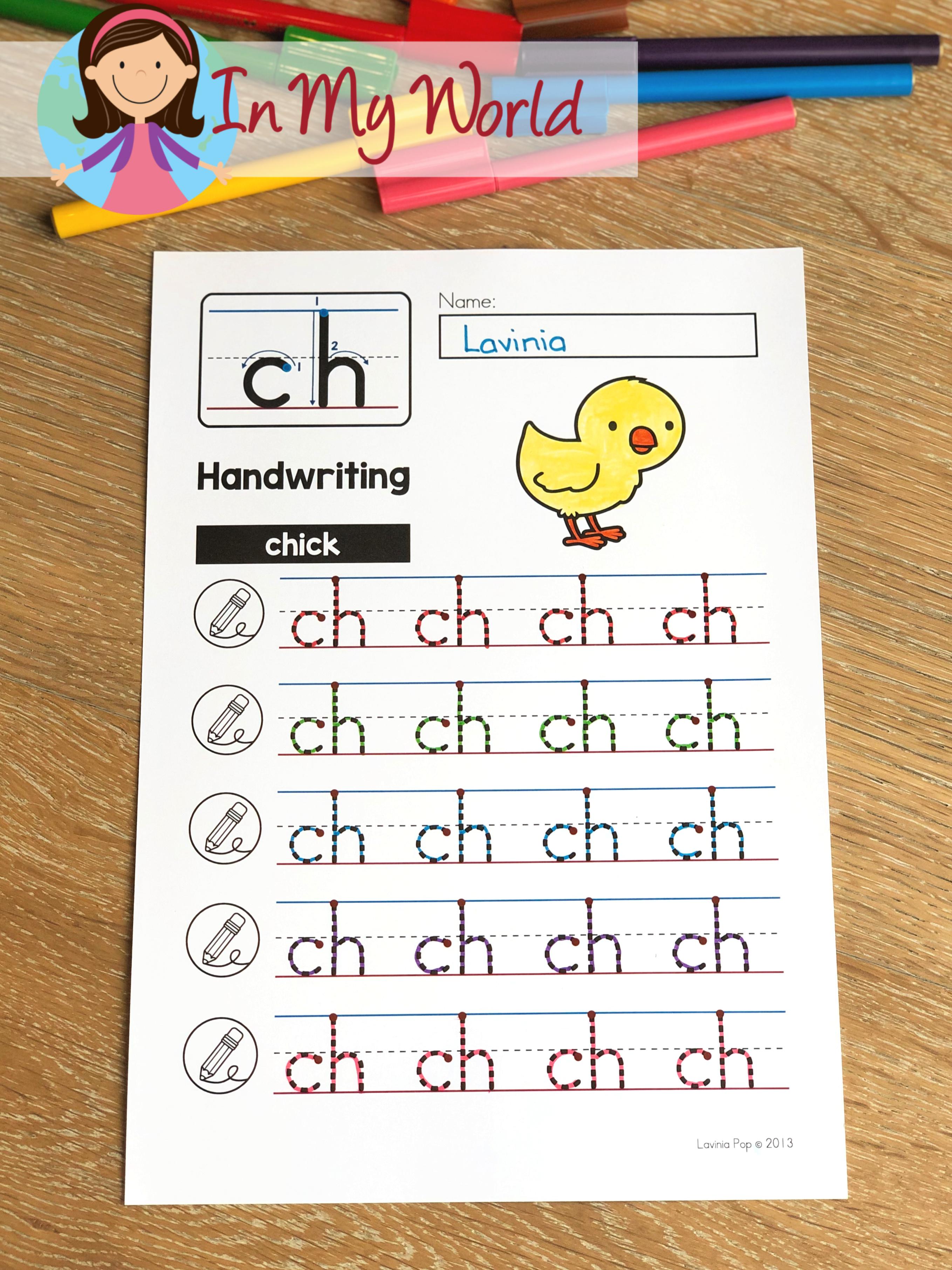 Handwriting Worksheet