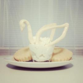 Amanda K's cream swan