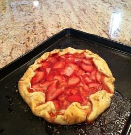 Linda's strawberry galette