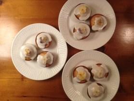 Sophia's Honeycakes w/candied flowers