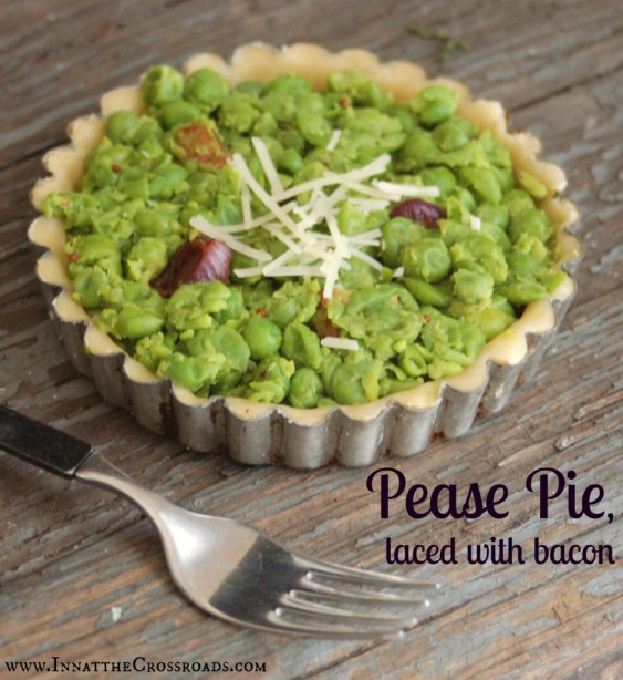 Modern Pease Pie labeled