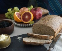 Seaweed Bread and Fruits