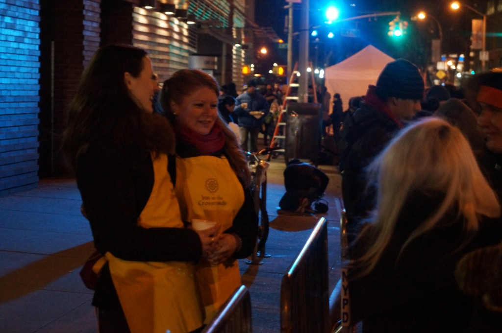 Inn at the Crossroads chatting with folks in line