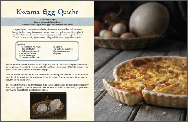 Kwama Egg Quiche spread
