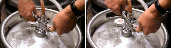 How to change an InBev keg of Beer