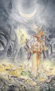 The Moon, from the Shadowscapes Tarot
