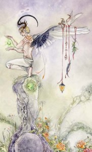 The Magician from The Shadowscapes Tarot