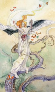 Justice from The Shadowscapes Tarot
