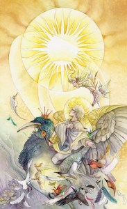 The Sun from The Shadowscapes Tarot by Stephanie Pui-Mun Law