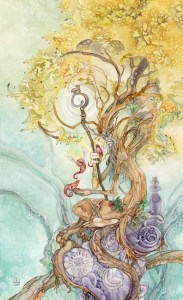 The Hierophant from The Shadowscapes Tarot
