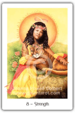 Strength from The Gaian Tarot by Joanna Powell Colbert