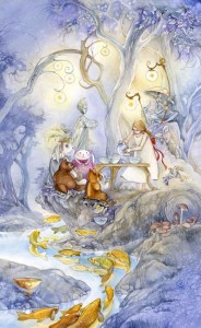 6 of Cups from The Shadowscapes Tarot by Stephanie Pui-Mun Law
