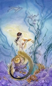 Page of Cups from The Shadowscapes Tarot by Stephanie Pui-Mun Law