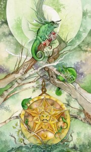 Ace of Pentacles from The Shadowscapes Tarot by Stephanie Pui-Mun Law