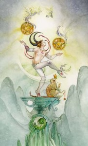 2 of Pentacles from The Shadowscapes Tarot by Stephanie Pui-Mun Law