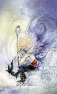 King of Swords from The Shadowscapes Tarot by Stephanie Pui-Mun Law